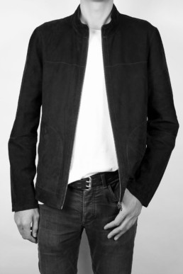 leather jacket by carlo carmagnini made in florence italy